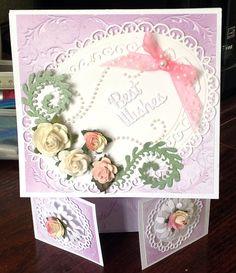 first attempt at a double Dutch fold card adding spellbinder ovals  www.delabur.co.uk