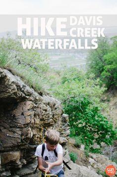 Davis Creek Waterfalls & Indian Bathtubs Trails | Farmington | Adventurin' | The Salt Project | Things to do in Utah with kids