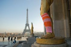 Yarn bombing in Paris. :-)