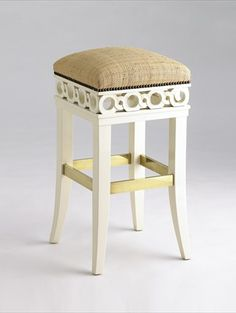 Jan Showers Coco Counter Stool with raffia seat and nail head trim & Newbury Swivel Curved Back Bar Stool from the 1911 Collection ... islam-shia.org