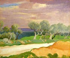 Un Coup de Mistral, Provence, c.1928 (oil on canvas), Augustus John