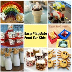 Easy playdate food recipes for kids - I LOVE THESE IDEAS! Super easy!