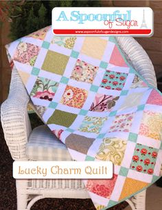 If you are after a quilt pattern that is well suited to using charm squares, you may wish to check out the Lucky Charm Quilt PDF Quilt Pattern in our Etsy store. I have made two quilts in this design. This one used Hunky Dory by Chez Moi for Moda – Published in Homespun Magazine...Read More »