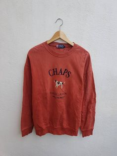 5f3a5a2a0 Buy Chaps Ralph Lauren Vintage 90s CHAPS Ralph Lauren Graphic Embroidered  Animal Jumper Sweatshirts Sweater Size