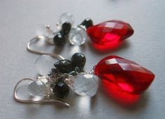 Fire and ice earrings Shirzay Collection by SueanneShirzay on Etsy, $88.00