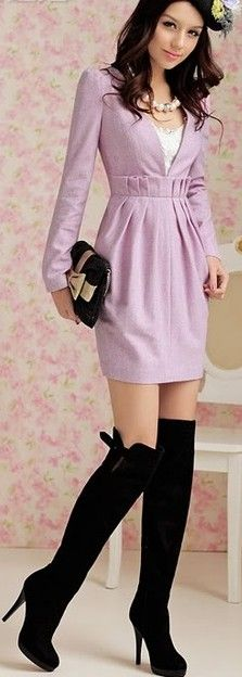 booted dress style