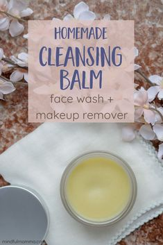 Homemade Cleansing Balm - You'll love this affordable DIY cleansing balm makeup remover because it is similar to Beautycounter cleansing balm but affordable and made with easy to find natural ingredients like shea butter cocoa butter and essential oils. Natural Beauty Tips, Natural Skin Care, Organic Beauty, Natural Hair, Diy Savon, Beauty Hacks For Teens, Beauty Ideas, Def Not, How To Grow Eyebrows