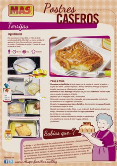 En desayuno, postre o merienda, ¡las torrijas siempre estan buenas! ¿Te apetece…