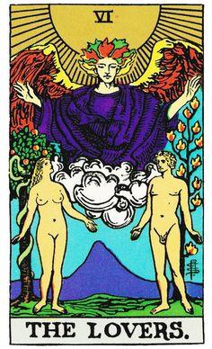 Arcano VI, Os Enamorados - Como ler tarot: http://www.discipulosdepeterpan.com.br/2014/11/arcano-vi-os-enamorados.html