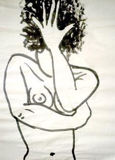 Exploit artistique - acrylique sur papier boucher, pose de 3/5 minutes.