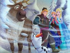 "Some ice magic shenanigans From ""Spring Fever"" Frozen Anna And Kristoff, Olaf Frozen, Disney Movies, Disney Pixar, Walt Disney, Cute Princess, Princess Art, Frozen Movie, Frozen Disney"