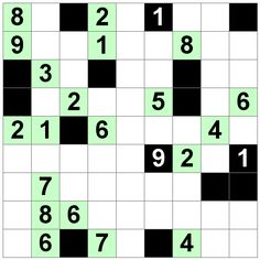 Number Logic Puzzles: 20655 - Str8ts size 9