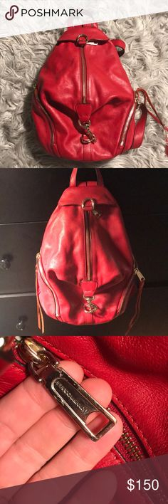 Rebecca Minkoff leather backpack Beautiful red leather Rebecca Minkoff backpack. Amazing condition. Lightly used. No wear and tear. Rebecca Minkoff Bags Backpacks