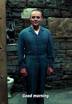 The Silence Of The Lambs - Anthony Hopkins as Hannibal Lecter.