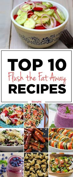 Are you ready to flush the fat away? Start flushing today with our Top 10 Flush … Are you ready to flush the fat away? Start flushing today with our Top 10 Flush the Fat Away Recipes! Healthy Menu Plan, Healthy Recipes, Detox Recipes, Healthy Snacks, Healthy Eating, Cooking Recipes, Juice Recipes, Drink Recipes, Detox Foods