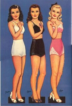 Glamour Girls paper dolls