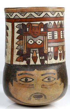 A Nasca Terracotta Kero, Southern Peru, ca. 350 - 400 AD | Sands of Time Ancient Art