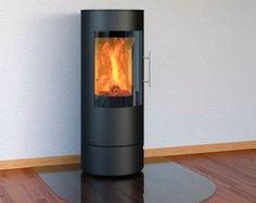 Design-Kamin-Ofen OLSBERG Königshütte Vela Stahlkamin - Dank der großen Glasscheibe haben Sie einen herrlichen Blick auf das Feuer