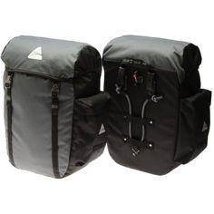 Axiom Seymour DLX 45 Pannier Set, Grey/Black $80