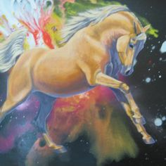 Cosmic Dreaming Spiritual Connection, Cattle, Cosmic, Horses, Painting, Animals, Color, Gado Gado, Animales