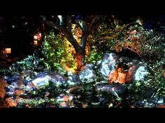 ▶ 3D projection mapping on landscaping -