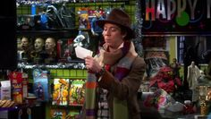 Big Bang Theory - Comic Store owner wearing 4th Doctor costume.
