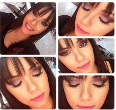 Maquiagem da @michellimuniz da NYX Moóca com a paleta Xoxo da linha Love in Florence, o delineador com glitter Glam Liner e o Soft Matte Lip Cream Milan