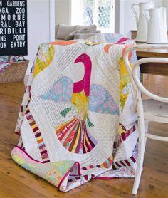 Sarah Fielke quilt, hand applique, seen @ hey porkchop!