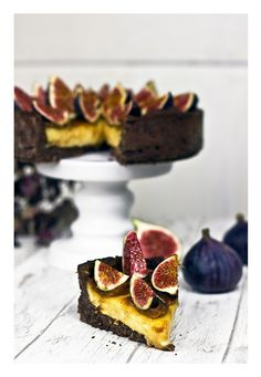 Salted caramel chocolate fig cake