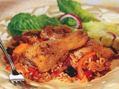 Ingredients for Basque Chicken - typical Spanish recipe: 8 Chicken joints to include all parts of the chicken or Joint a kg chicken yourself into 8 Best Chicken Recipes, Great Recipes, Favorite Recipes, Spanish Cuisine, Spanish Food, Spanish Recipes, Pollo Recipe, White Meat, Rice