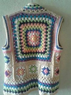 Hand Knitting Women's Sweaters - Crochet Ideas Crochet Waistcoat, Gilet Crochet, Crochet Coat, Crochet Jacket, Crochet Cardigan, Crochet Shawl, Crochet Clothes, Crochet Stitches, Crochet Patterns