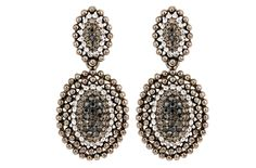 "Mezi ""Valencia"" earrings, black nickel"