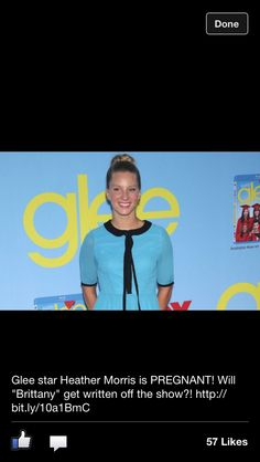 Awwwww, Heather Morris is pregnant!!! <3