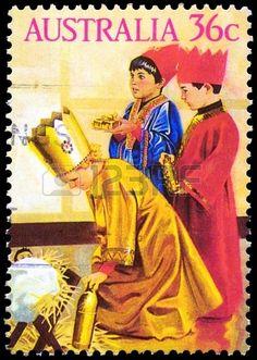 1986 nativity postage stamp - Australia