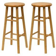 "Furniture - This solid wood barstool with beveled seat is a classic design that fits well in the kitchen for your counter tops or high tables. The seat height is 30"" with a"