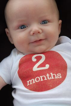 FREE printable baby monthly iron-ons! No sewing required! Perfect baby shower gift.