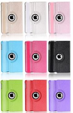 New PURPLE Flip 360 Rotating Leather Silk Grain Tablet Cover Case For ipad 2/3/4