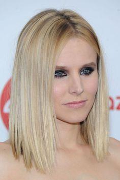 Fierce eye makeup, Kristen Bell!