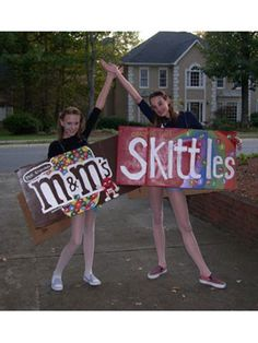 """My best friend and I got super compliments on our candy costumes!"" —Halley, 19, GA"