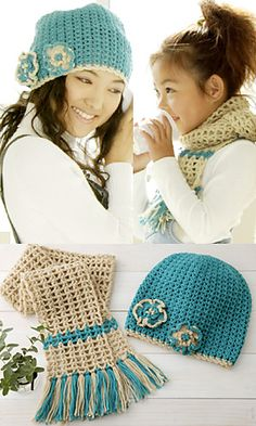 Crochet Hat and Scarf Pattern