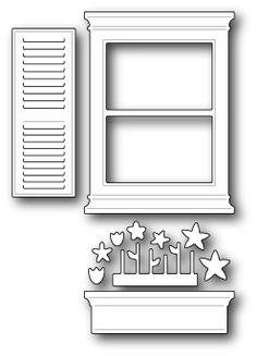 Poppystamps Die - Small Madison Window Set