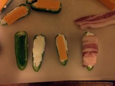 Stuffed Jalapenos wrapped in bacon - So Good!