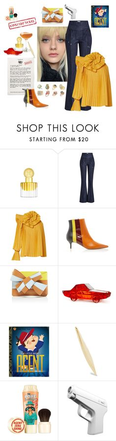 """This Friday is strictly confidential"" by juliabachmann ❤ liked on Polyvore featuring Carolina Herrera, Emilio Pucci, Nina Ricci, Rosie Assoulin, Jonathan Adler, Catbird and Benefit"