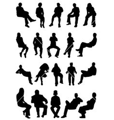 Sitting people vector 364683 - by jackrust on VectorStock®