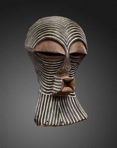 Kifwebe Mask - Songye people - DR Congo - Wood and natural pigments.