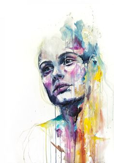 Watercolor Painting by Agnes Cecile Watercolor Art Face, Watercolor Art Paintings, Watercolor Portraits, Watercolours, Agnes Cecile, Face Art, Art Inspo, Art Drawings, Art Projects