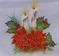 Resultado de imagem para pintura em tecido natal