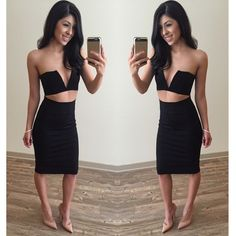 ✨NEW RETAIL BLACK MIDI SKIRT ✨ SUPER SEXY Black Midi Skirt! This look is so hot right now. It's 24 in. long and there is a 6 1/4 in. slit in back This Midi is available in Small, Medium, and Large! Pair with a cute crop, a bodysuit, throw on a blazer, dress this look up OR down! -- 68% Rayon 27% Nylon 5% Spandex- it's stretchy and THICK! click buy now! ❤️ this listing is for a small Skirts Midi
