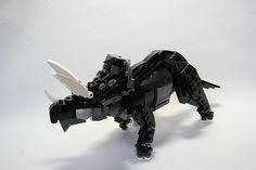 Lego carnotaurus brick built moc - YouTube
