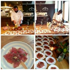 Live Ceviche of tuna and seabass for wedding food station , bespoke menu created by head chef Yann for the happy couple at @happenstancebar